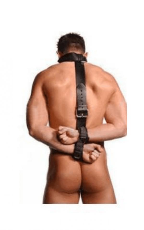 inmovilizador cuello y muñecas por espalda